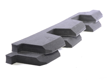 Polyethylene foam fabricated spacer